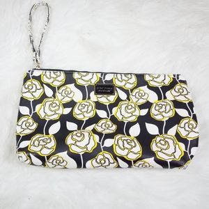 Betsey Johnson Floral Rose Cosmetic Bag